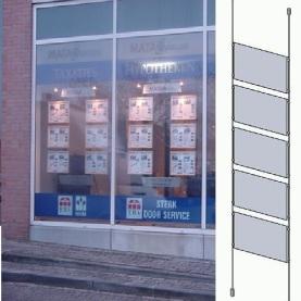 LED Raampresentatie 5x A3 verlicht met 1 LED spot 3w